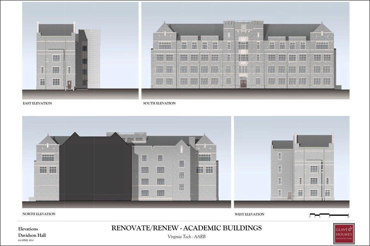 Renovate/Renew - Academic Buildings | Elevations Davidson Hall