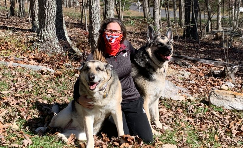 Stella Volpe with her dogs