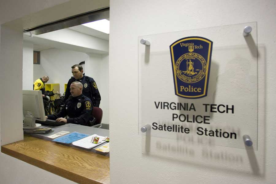 VT Police satellite station in War Memorial Gym
