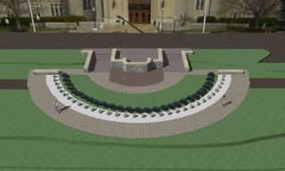 Architect's depiction of the memorial