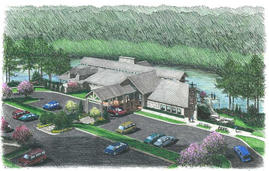 Artist's rendering of the clubhouse