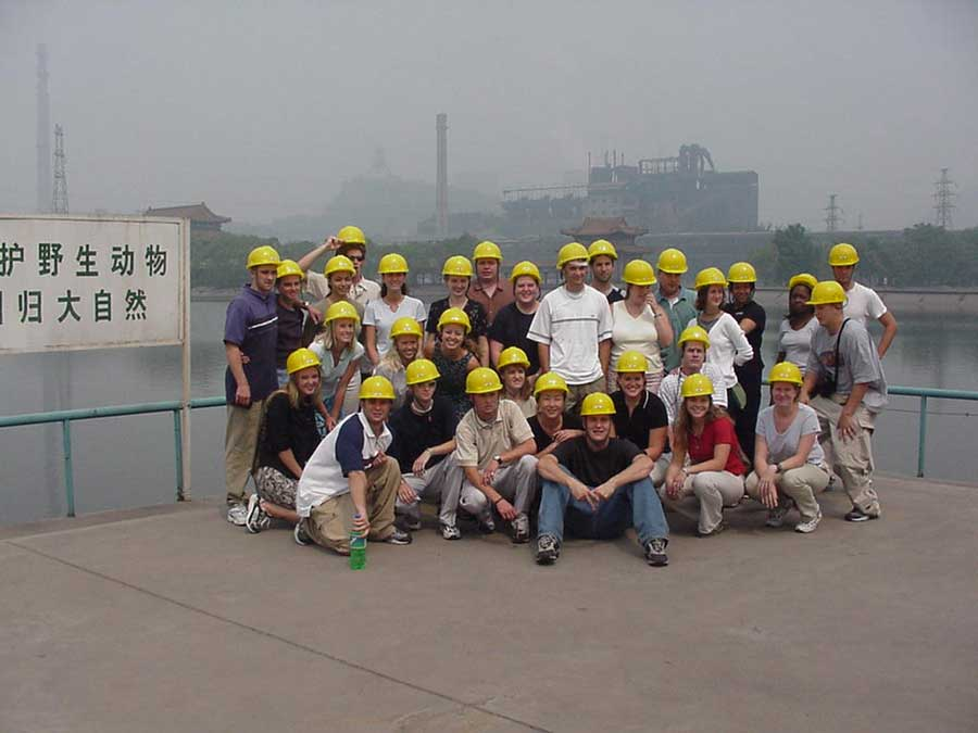 A DeBeers diamond mine in South Africa and a steel plant in Beijing are among the workplaces students will see on finance professor Rodney Thompson's study-abroad programs.