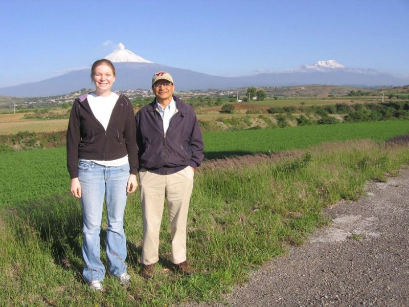 Program fellow Brittany Bogle (left) and mentor Tamim Younos recently visited Mexico as part of their energy efficiency of decentralized water systems summer project.