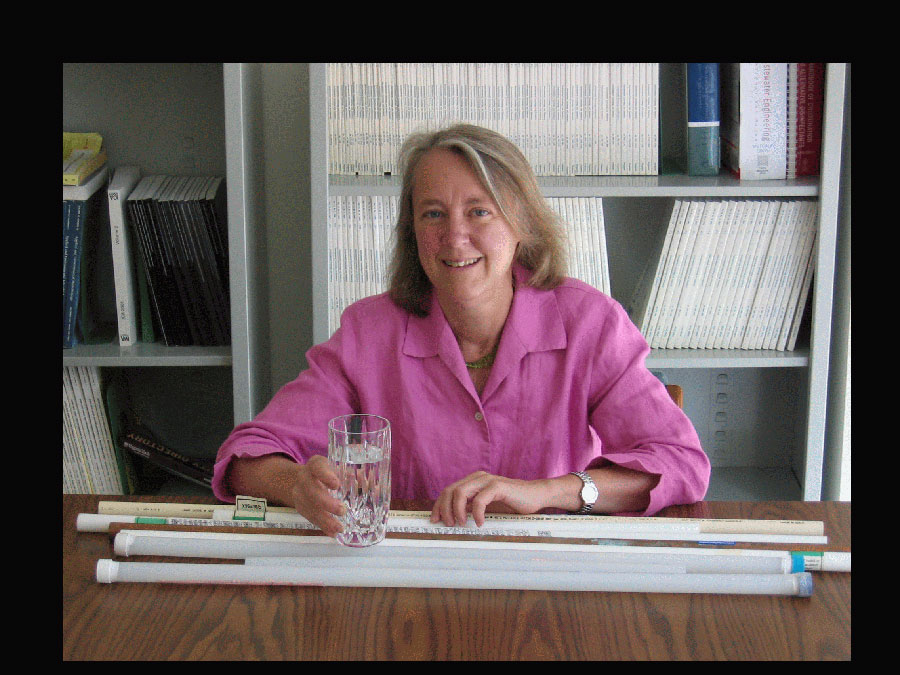 Andrea Dietrich, professor of civil and environmental engineering at Virginia Tech, was sponsored by the National Science Foundation to conduct studies on how different plumbing materials affect the odor and taste of drinking water.