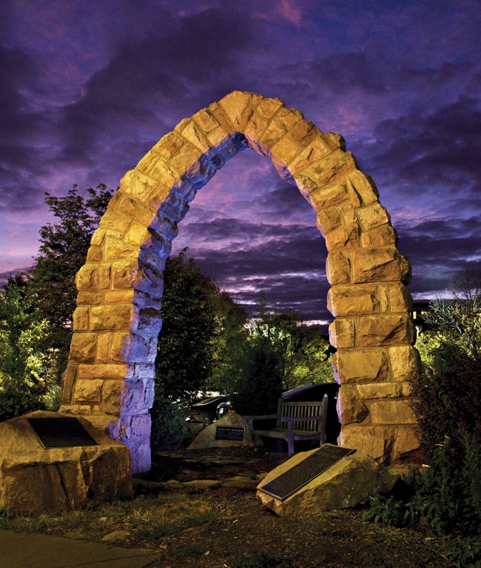 On Tinner Hill in Falls Church, Va., this archway honors E.B. Henderson and Joseph Tinner, who advanced the cause of civil rights and in 1918 helped found the first rural branch of the NAACP. That history is the cover story for the winter 2009 edition of <em>Virginia Tech Research</em> magazine.