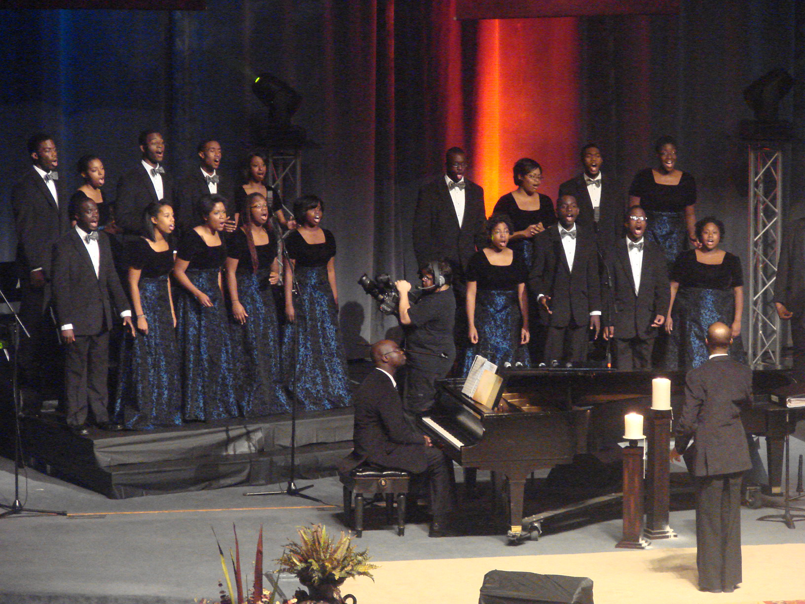 (Top) The Fisk Jubilee Singers and The Aeolians.