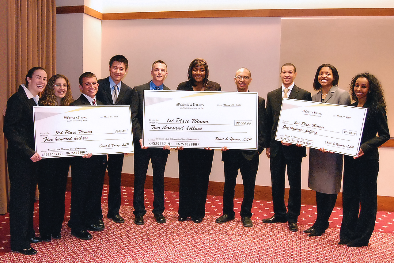 Diversity case competition winners, from left to right:<br>