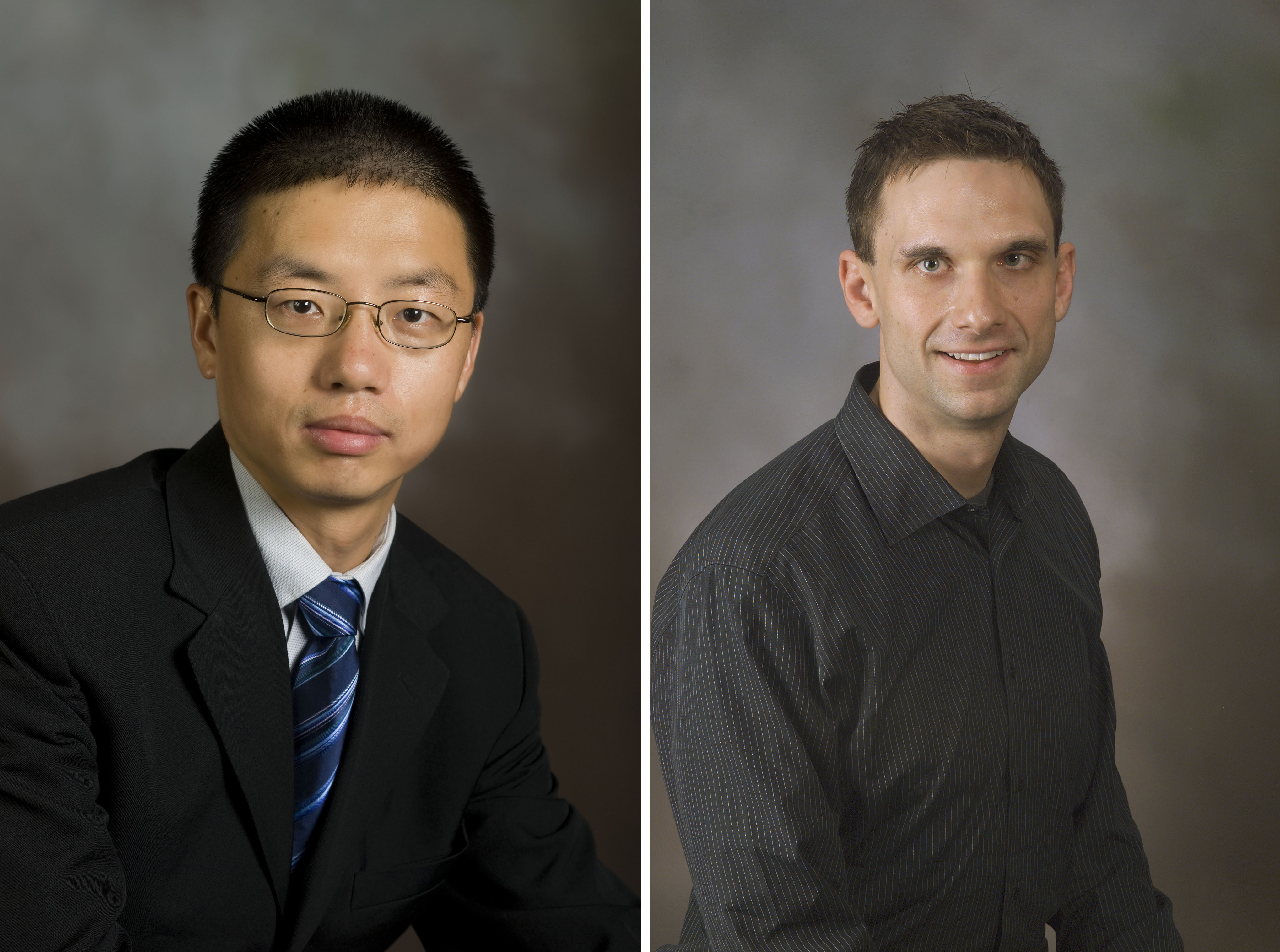 Zhang (left) and Roberts
