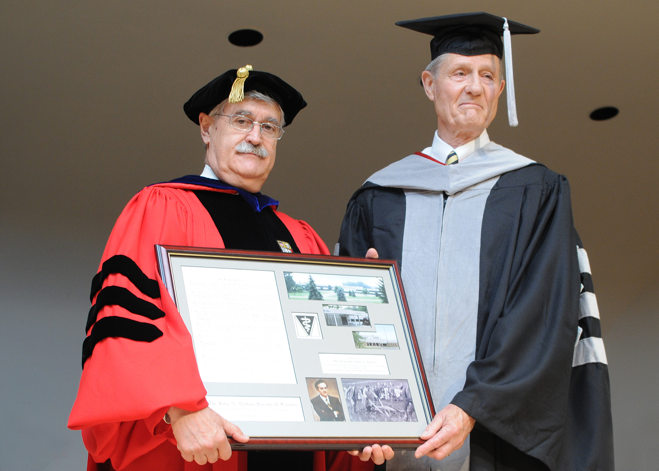 Dean Gerhardt Schurig (left) and Dr. Kent Roberts