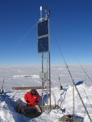 Robert Clauer, Virginia Tech professor of electrical and computer engineering, will lead a team of the Space@VT researchers to build a chain of space weather instrument stations in Antarctica.