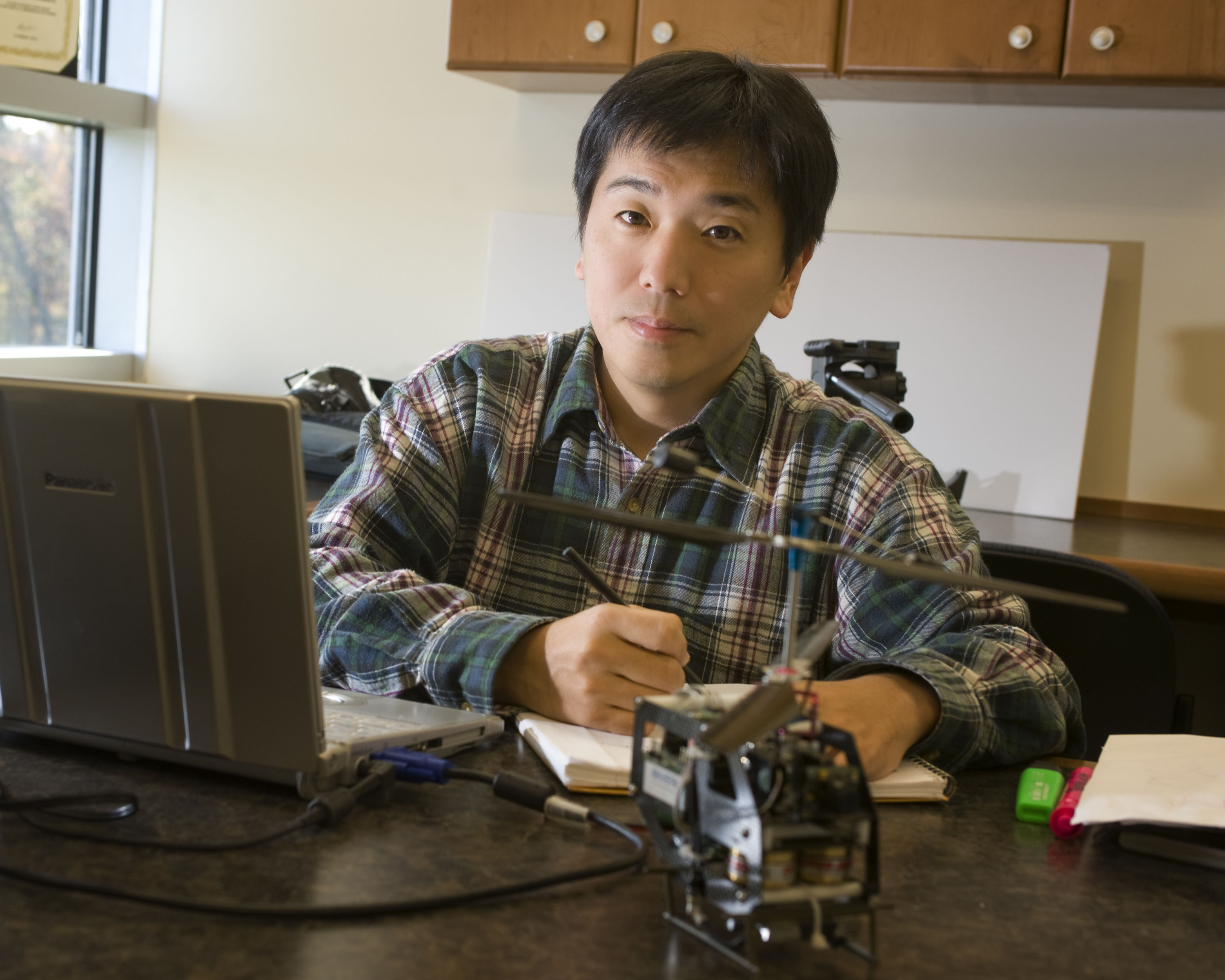 Tomonari Furukawa is leading a team of faculty, graduate students, and undergraduate students from Virginia Tech's Virginia Center for Autonomous Systems in building a team battle-ready robots as part of an international war games challenge.