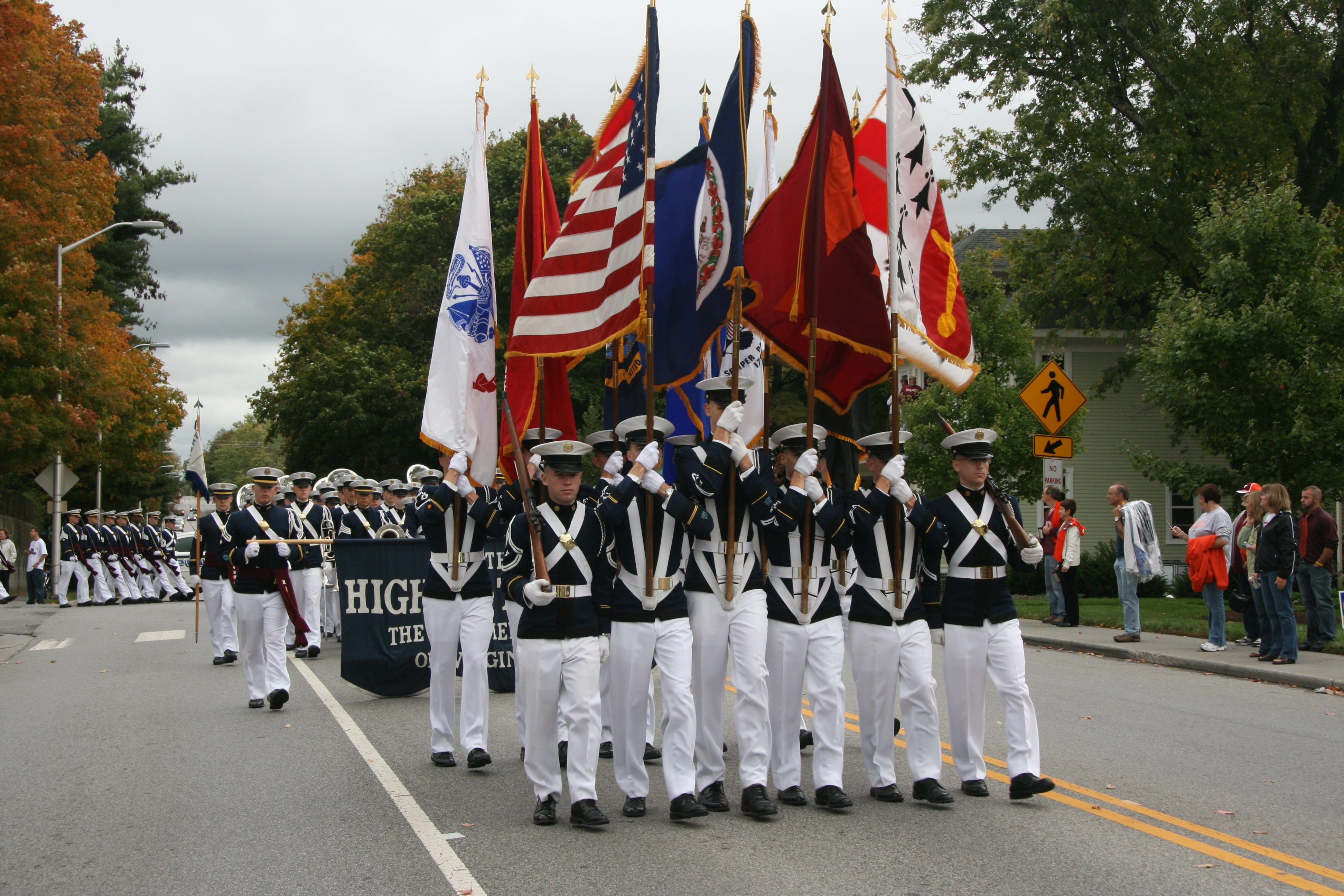 Corps of cadets Highty-Tighties and Color Guard