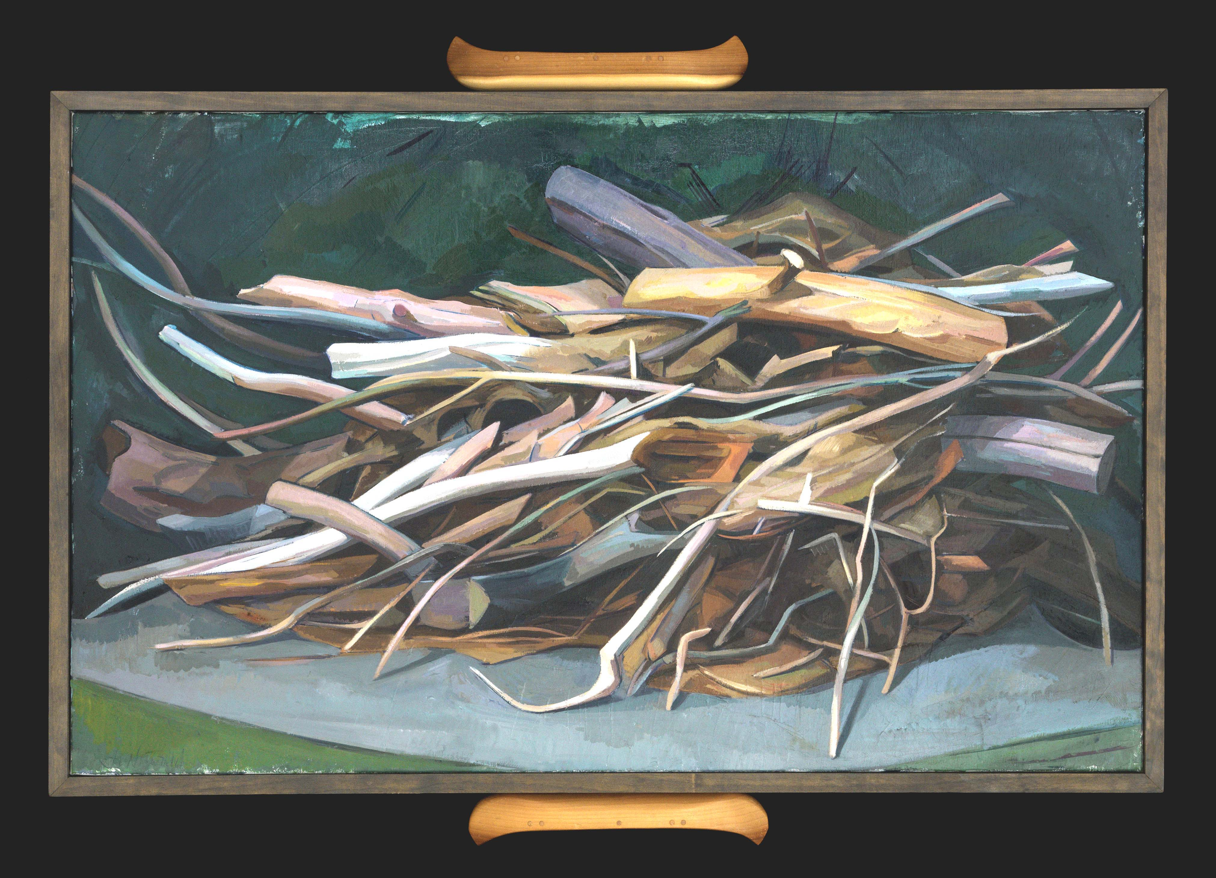"""Brushpile I,"" 26 x 42,"" by Janet Niewald"