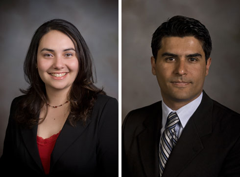 Michelle McLeese (left) and Mehdi Nikkhah