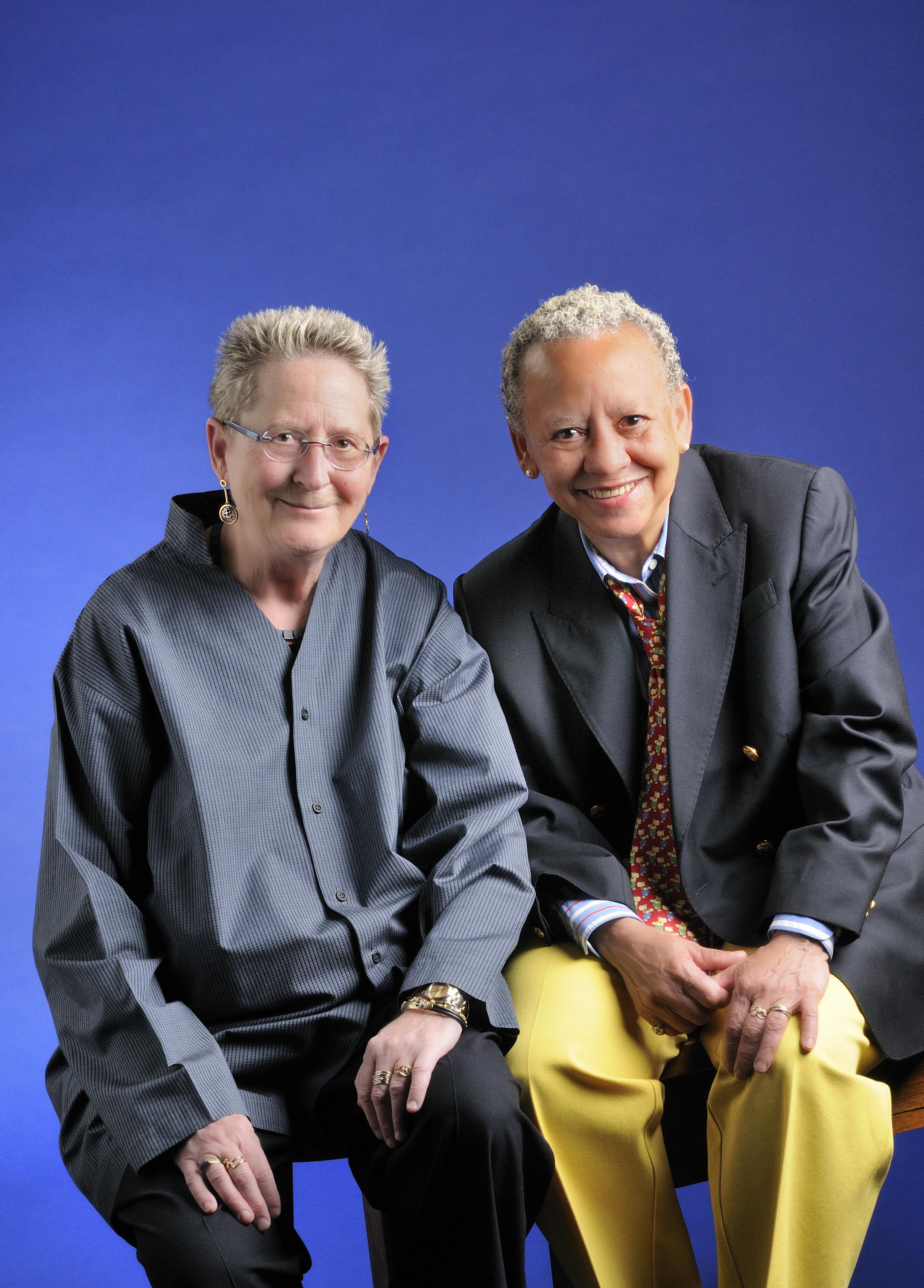 Virginia Fowler (left) and Nikki Giovanni
