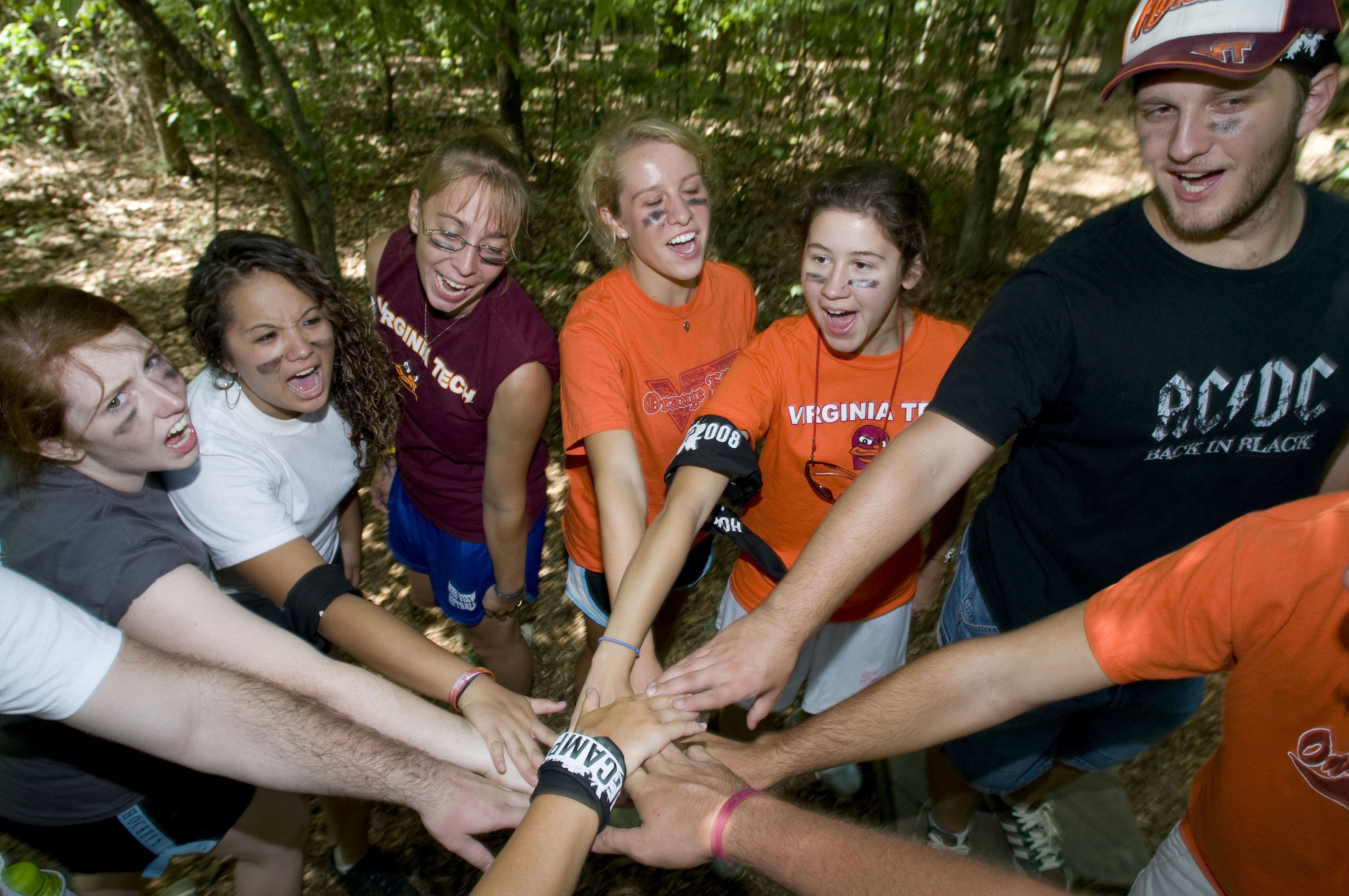 Students at Hokie Camp.