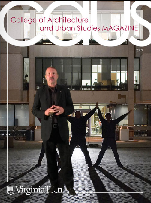 College of Architecture and Urban Studies magazine cover