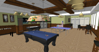 The large game room will provide a gathering space for residents to socialize and unwind.