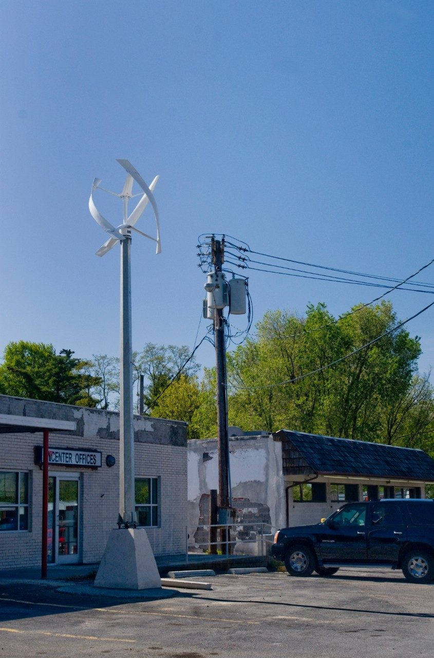 The West Main location provides an interesting juxtaposition of energy technologies.