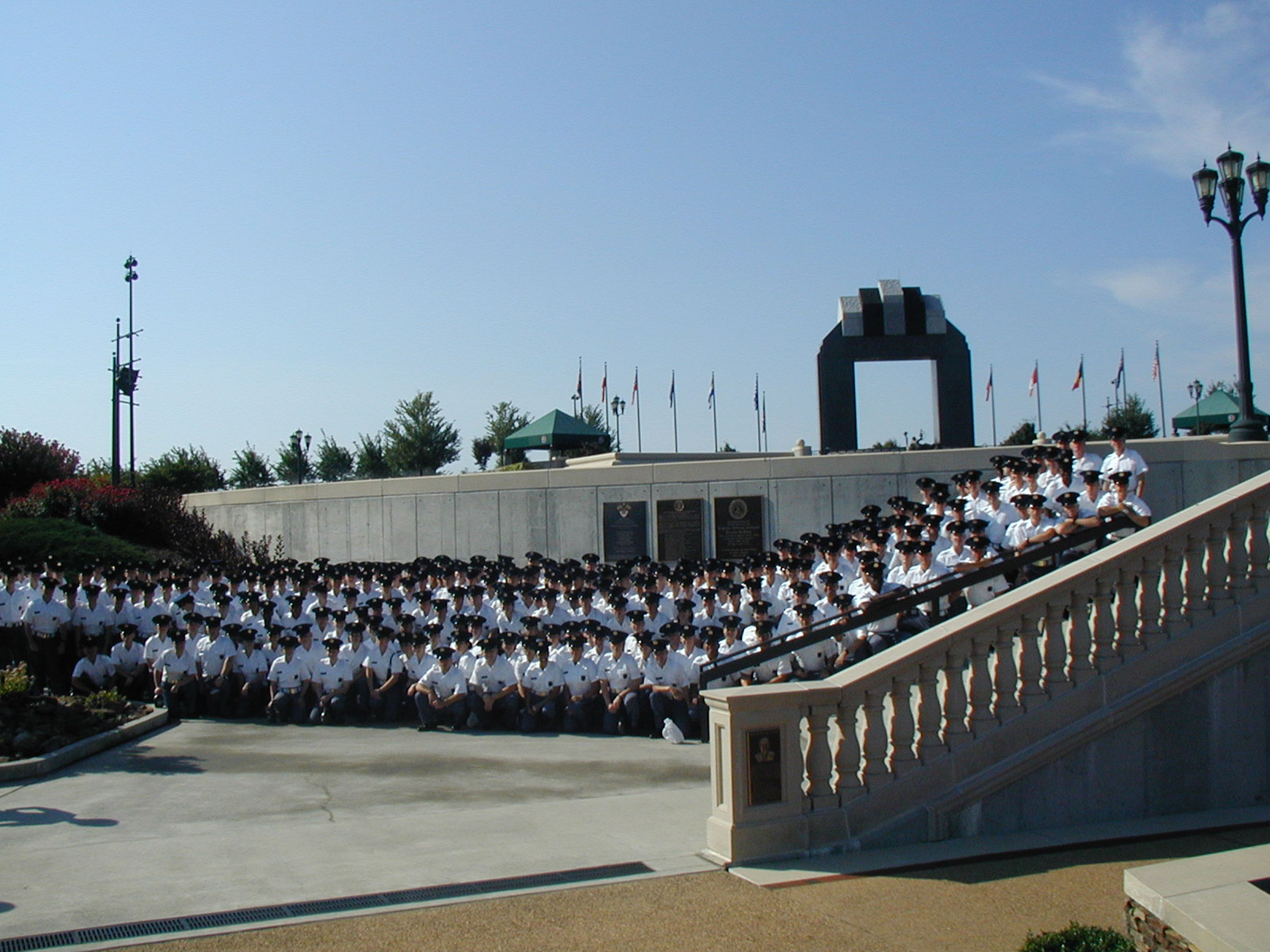 Virginia Tech Corps of Cadets freshman class trip to National D-Day Memorial in 2009