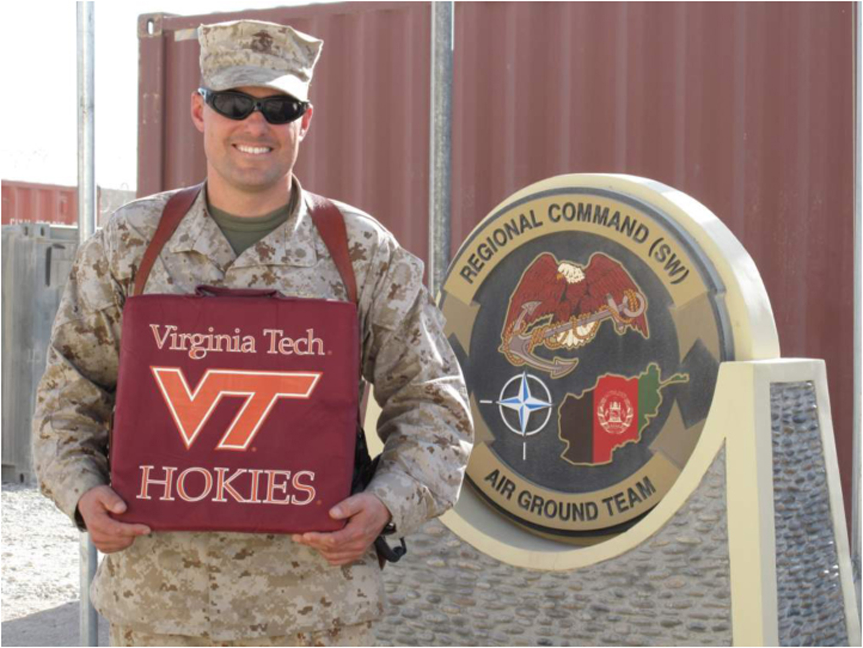 Maj. Dave Sadlier, U.S. Marine Corps, Virginia Tech Corps of Cadets Class of 1995