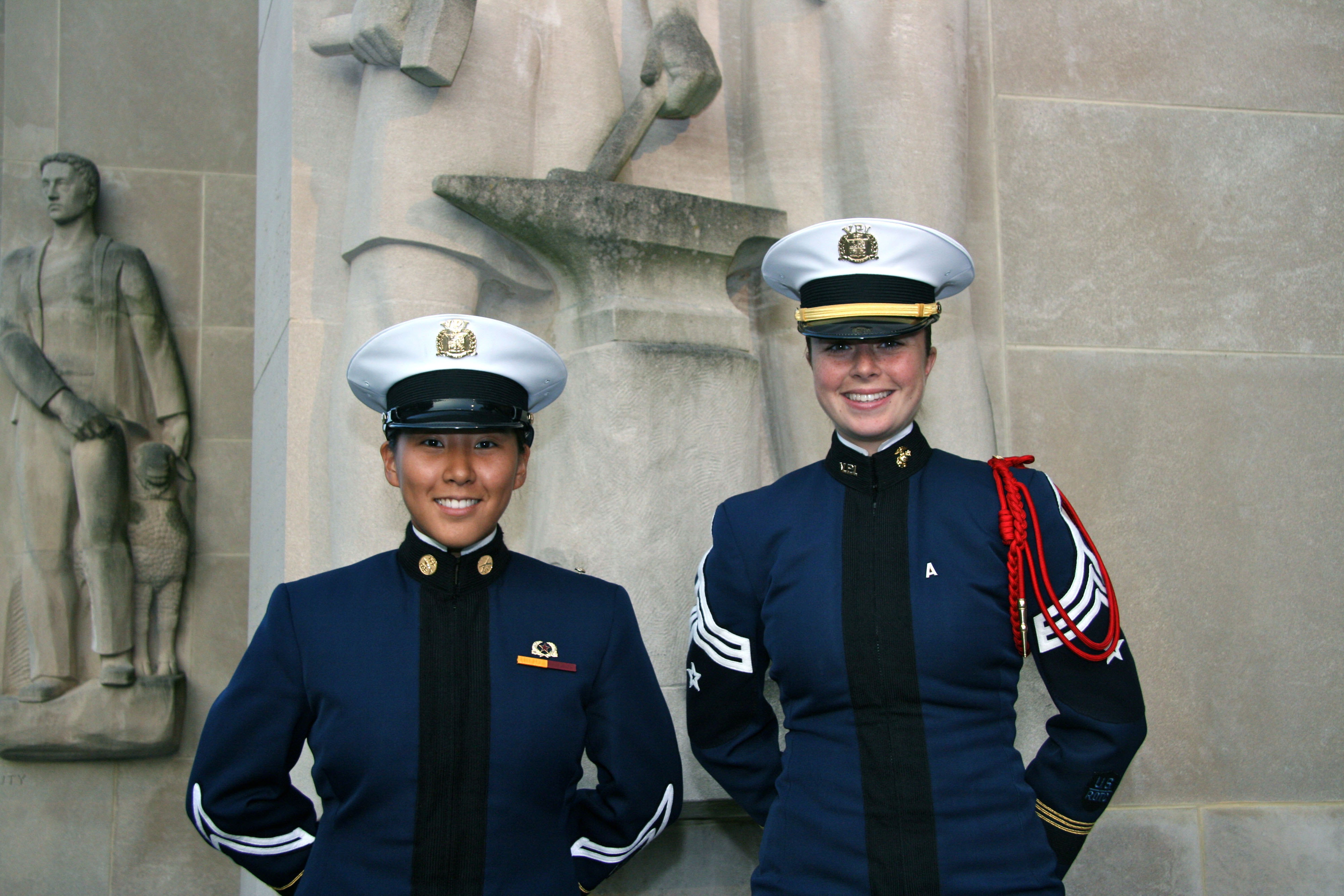 From left to right are Cadets Lydia Choi and Christina Devereux