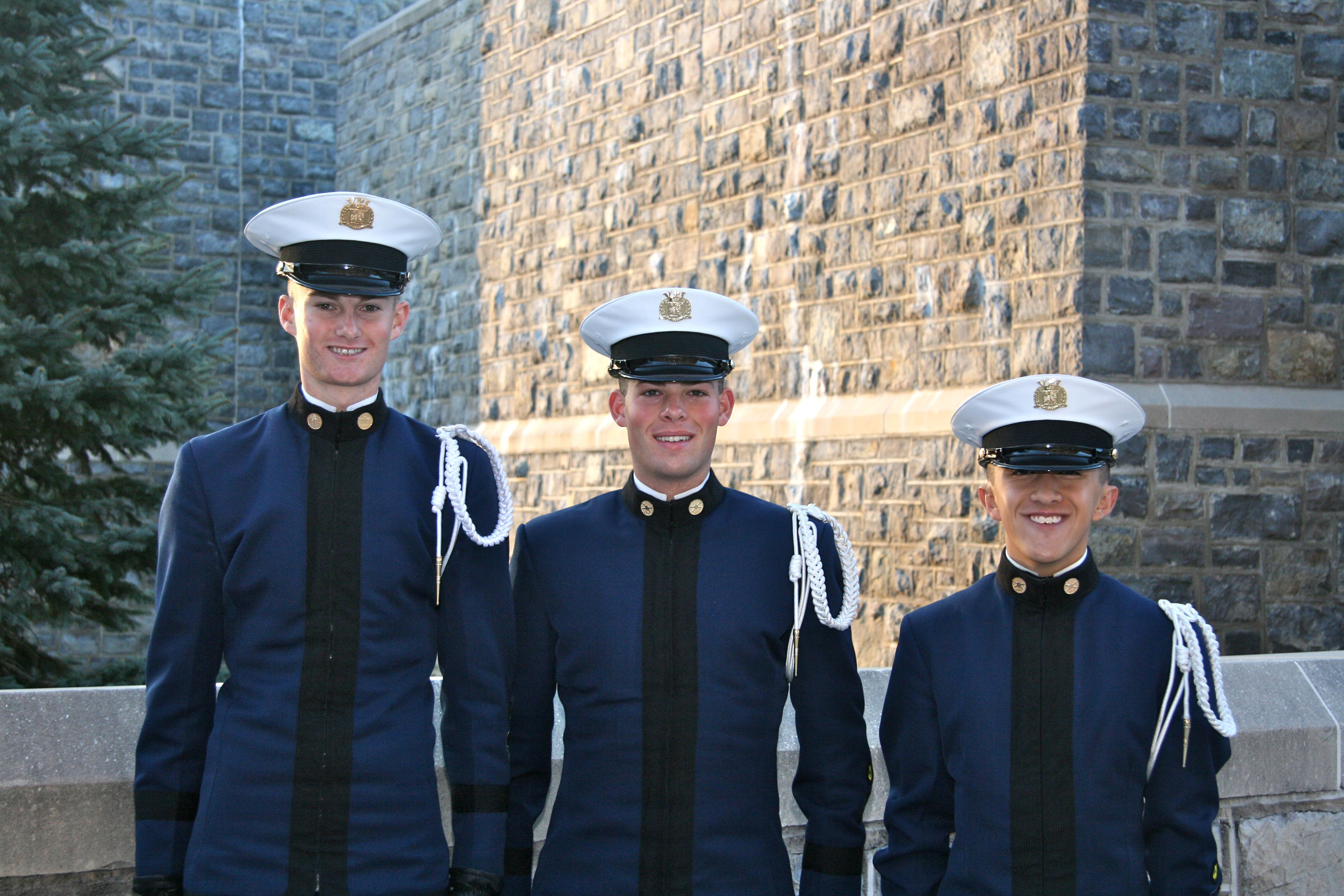 From left to right are Cadets Keith Himmelberger, Alexander Zuchowicz, and Matthew Gurski