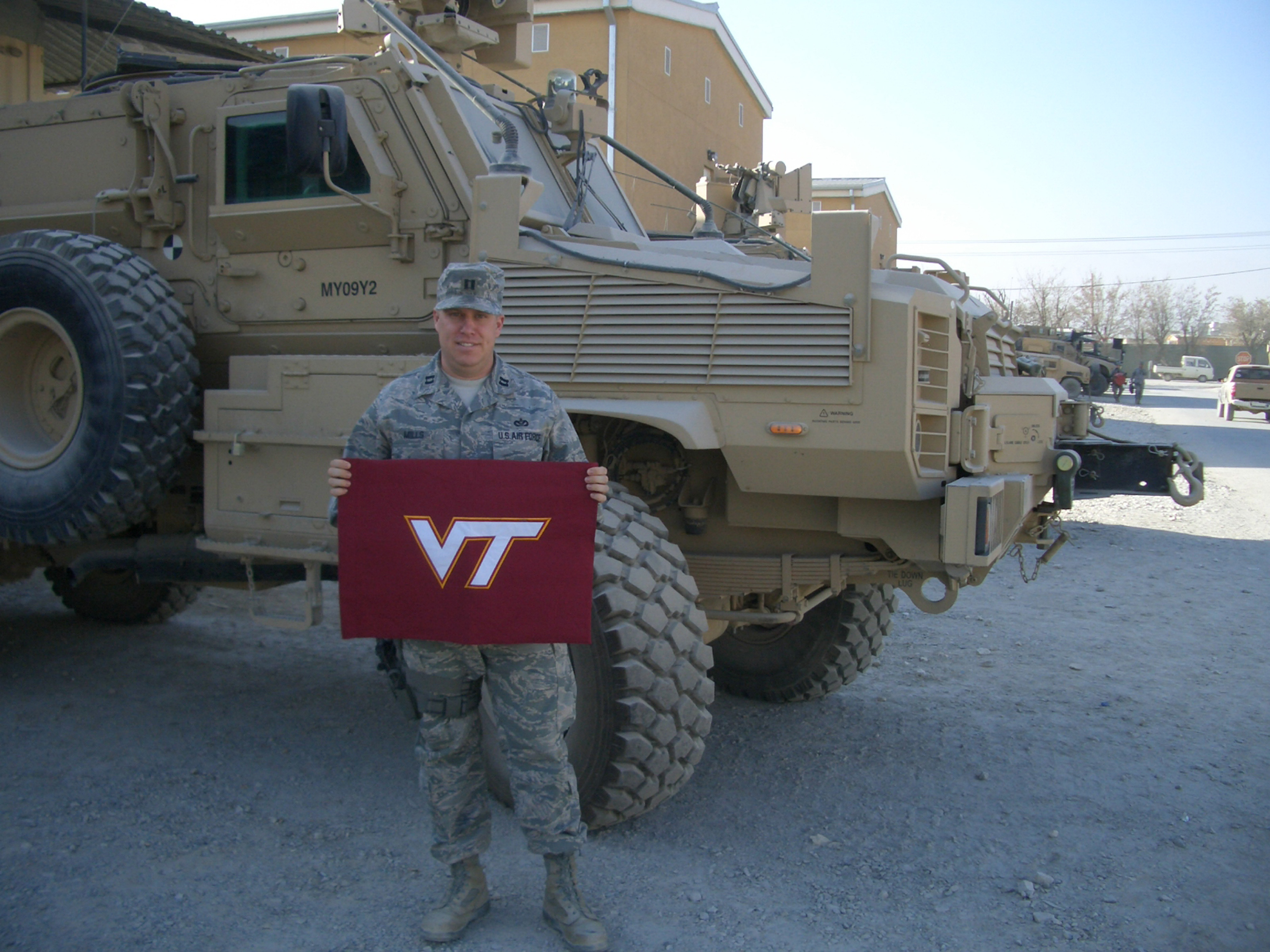 Capt. Craig Mills, U.S. Air Force, Virginia Tech Corps of Cadets Class of 2002