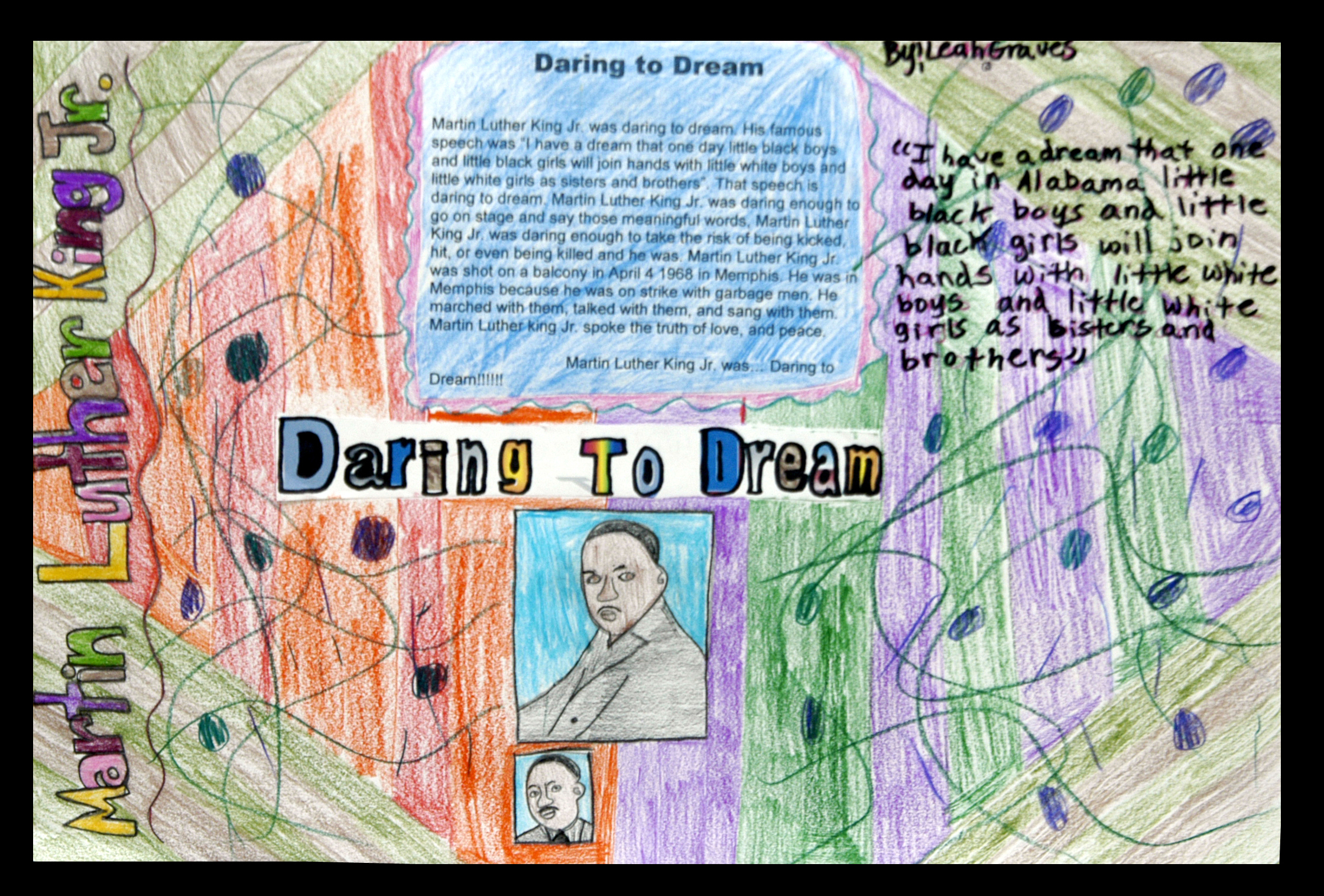 Martin Luther King Jr. contest winning poster