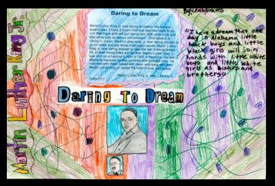 Photo of Martin Luther King Jr. contest winning poster