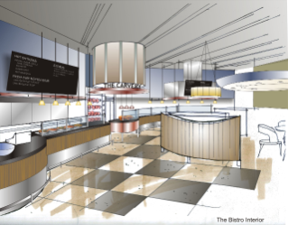 The bistro venue, created and operated exclusively by Dining Services, will include a wood-fired char grill for steak-house specialties and home-style Southern favorites.