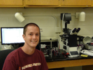 "Sean Gart, of Salem, Va., a senior in engineering science and mechanics, co-authored the new paper, ""The collective motion of nematodes in a thin liquid layer.""  His adviser is Sunghwan ""Sunny"" Jung, an assistant professor of engineering science and mechanics at Virginia Tech."