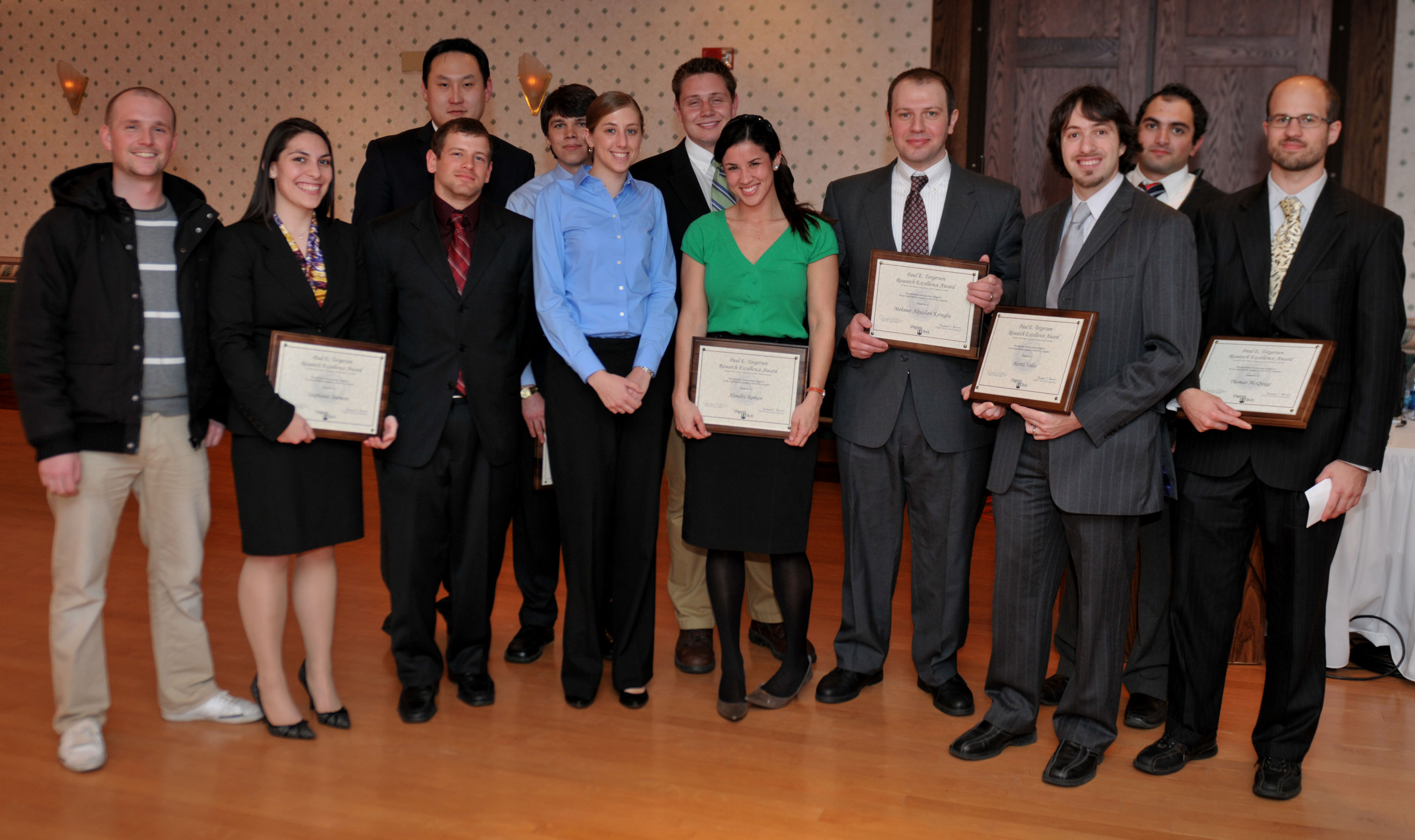 2011 Torgersen Award winners
