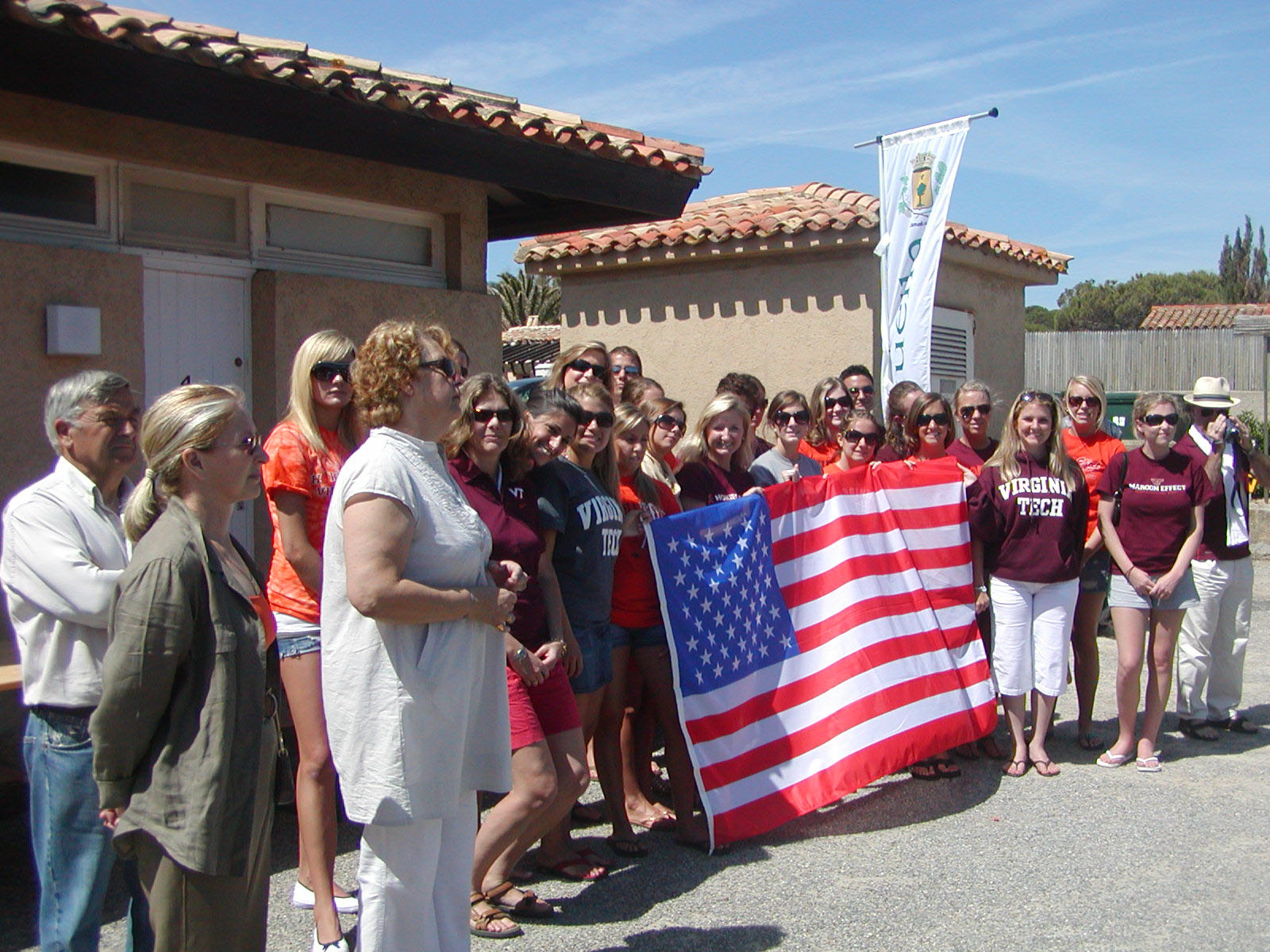 Pamplin students and faculty on a past study-abroad program in the French Riviera attended the official opening of Ramatuelle's Boulevard Patch.