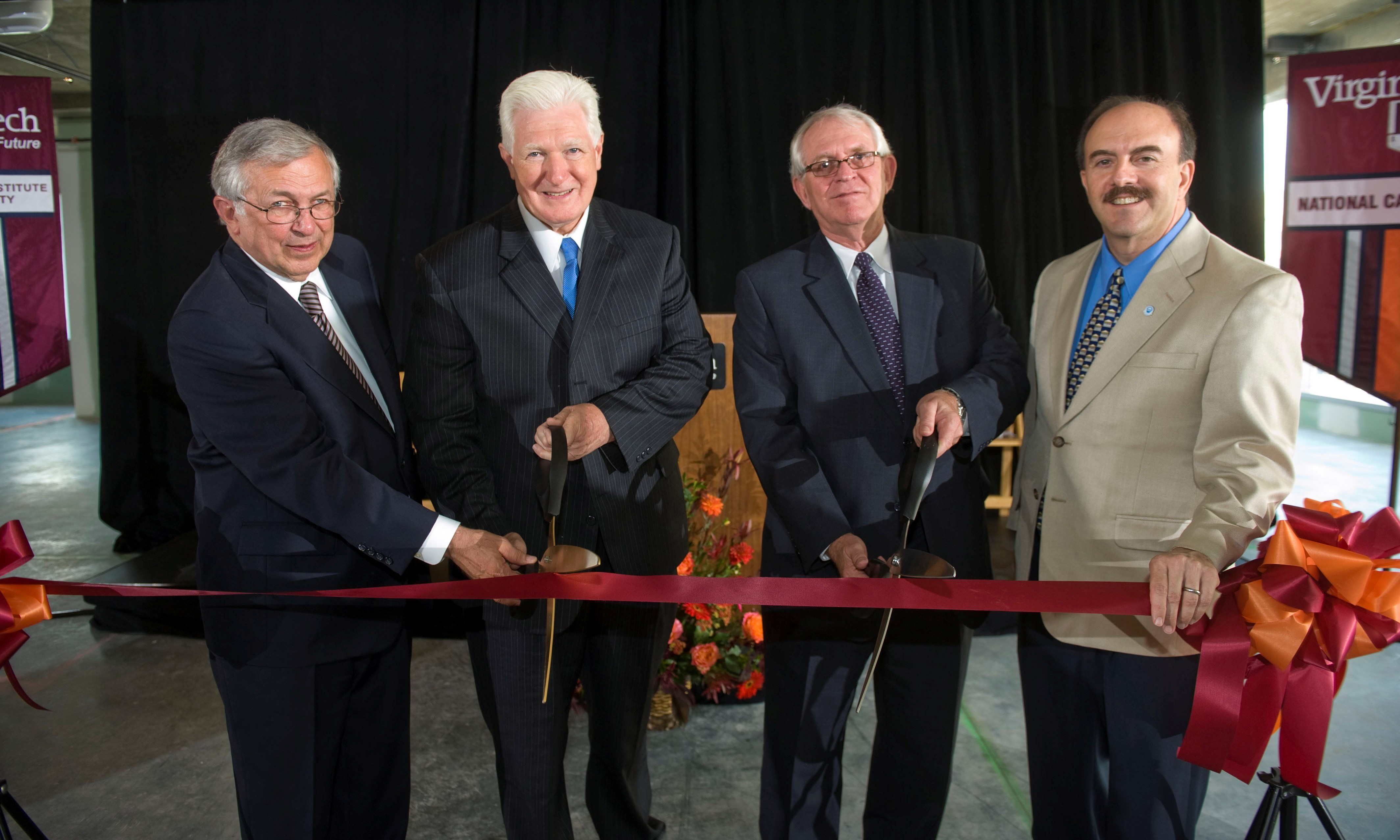Steger, Moran, Bohland, and Zimmerman cut the ribbon