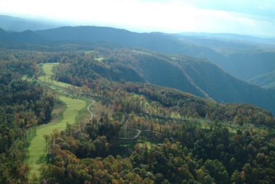 An aerial view of Primland Resort