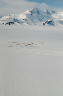 Research base camp in Antarctica. Photo by Charles Lee, Postdoctoral Research Fellow at the University of Waikato.