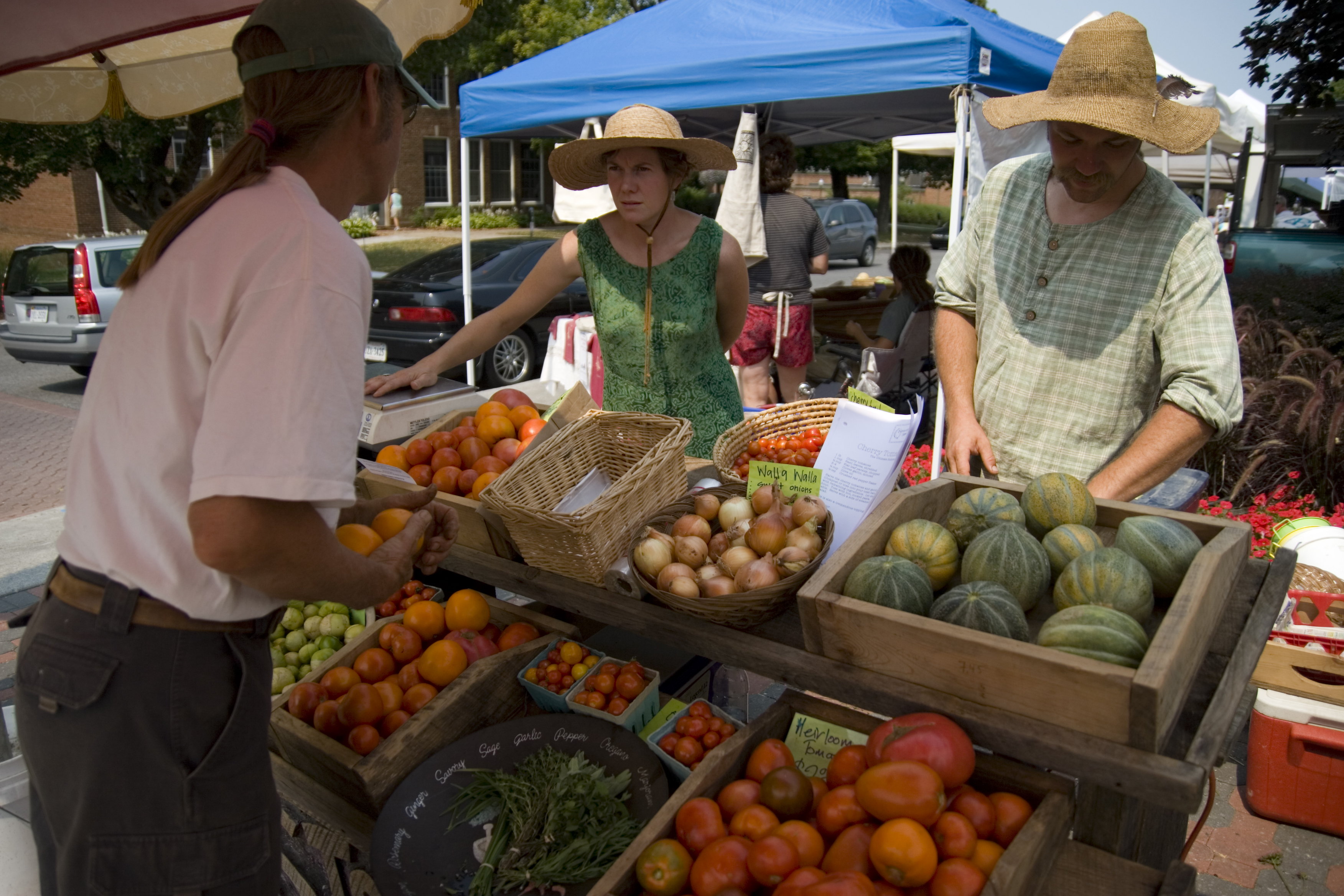 Local vendors at the Blacksburg Farmer's Market