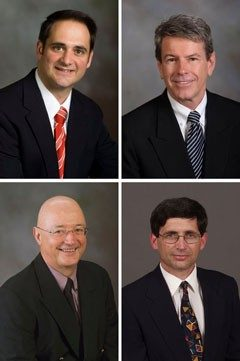 Left to right, from top: Vince Magnini, Ken McCleary, Michael Olsen, Zvi Schwartz