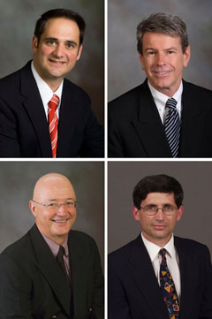 Left to right, from top: Vince Magnini, Ken McCleary, Michael Olsen, and Zvi Schwartz
