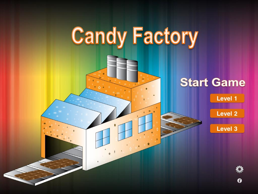 screen shot of The CandyFactory app