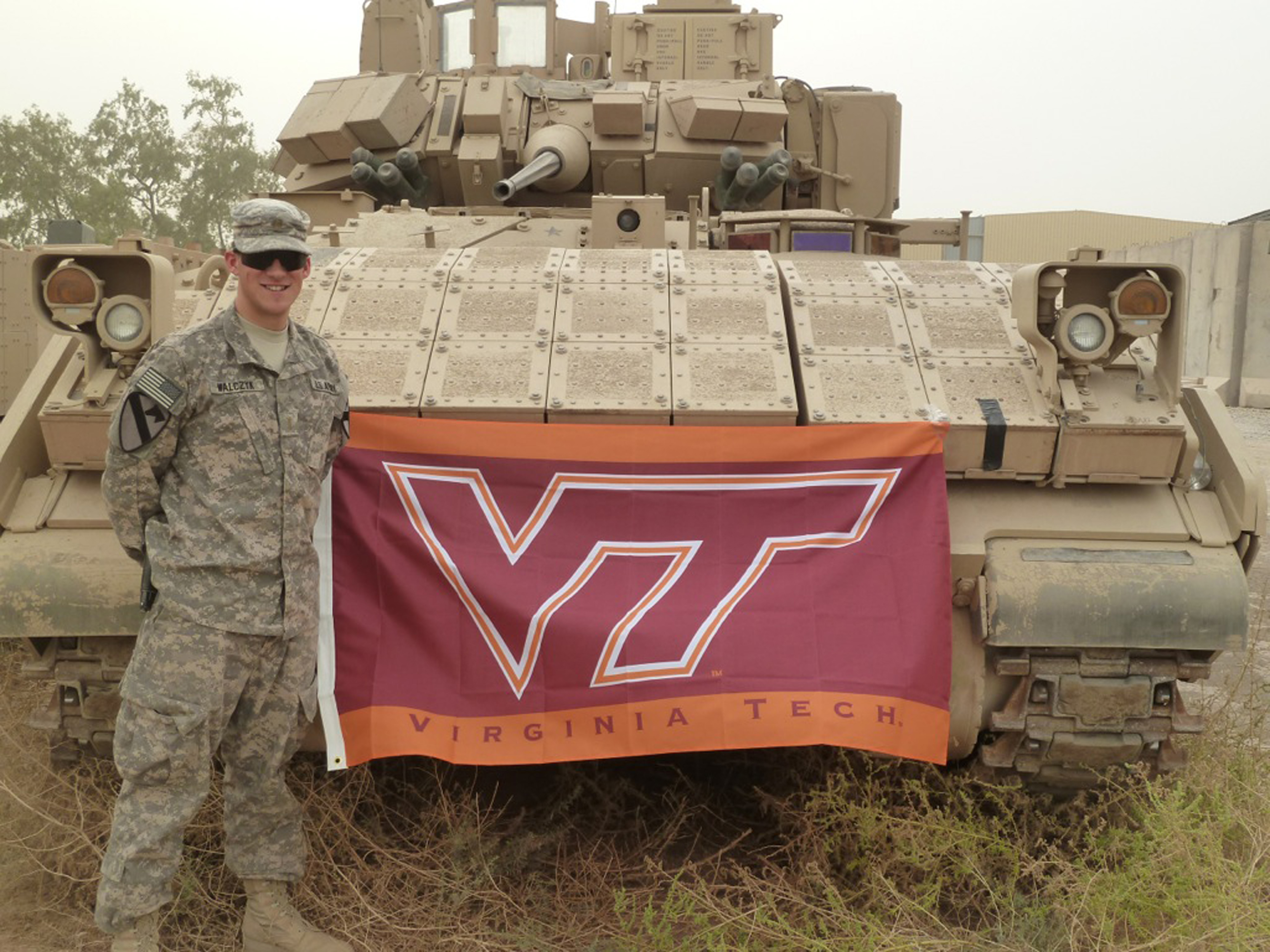 2nd Lt. Mark Walczyk, U.S. Army, Virginia Tech Corps of Cadets Class of 2010, the Hokie Hero for the Appalachian State game