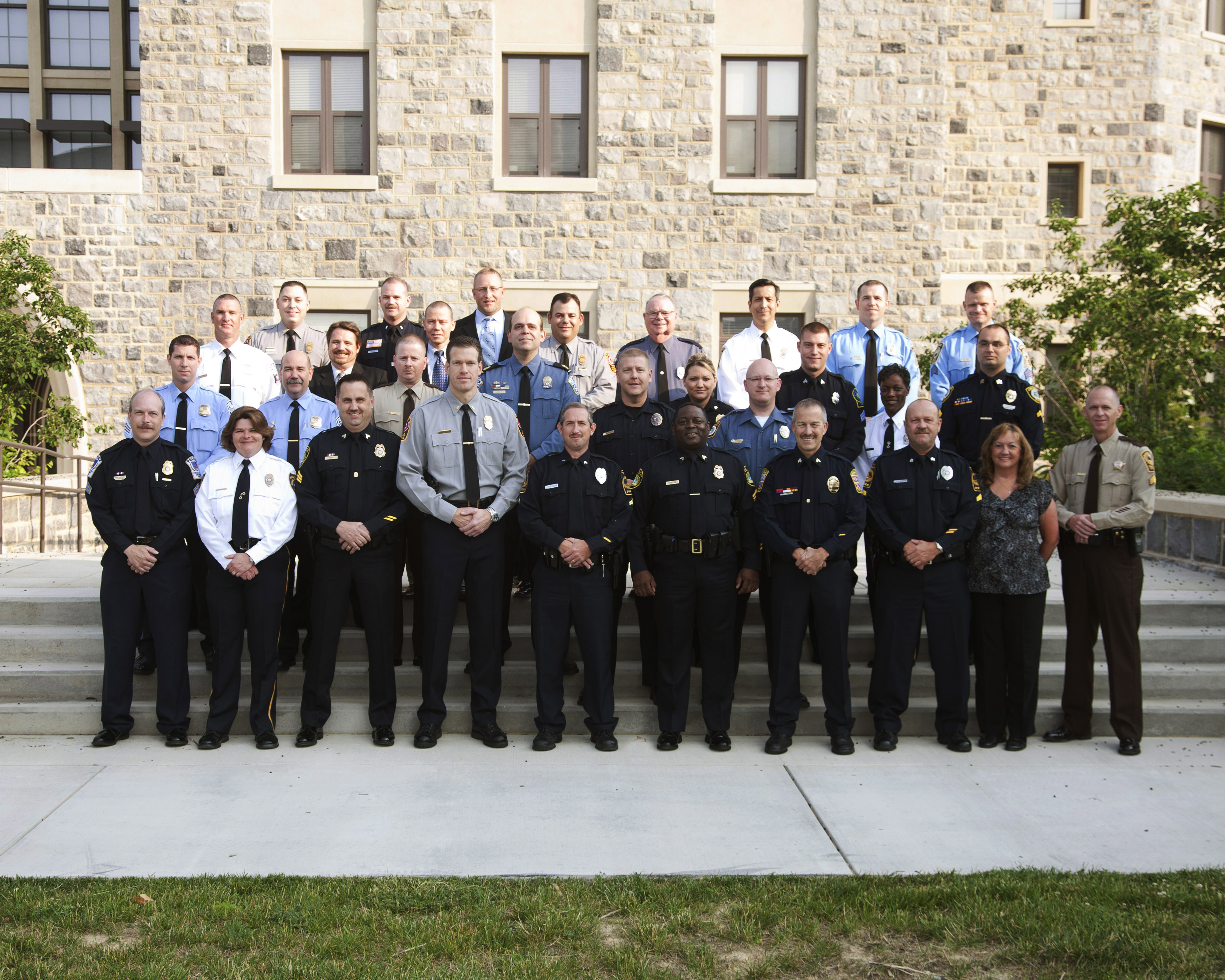 The public safety professionals in the 2011 graduating class of the Institute for Leadership in Changing Times