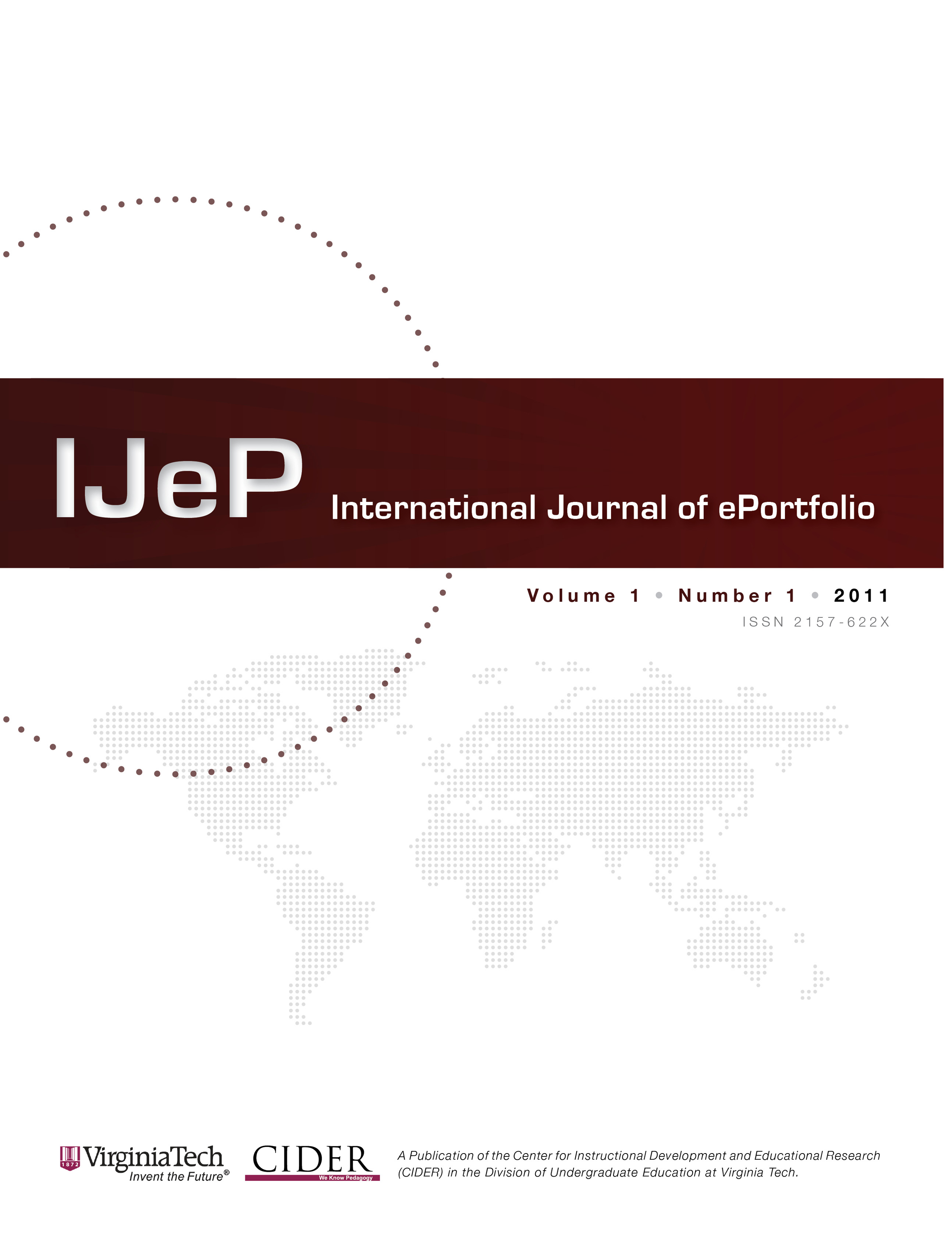 Cover of Inaugural Issue of International Journal of ePortfolio