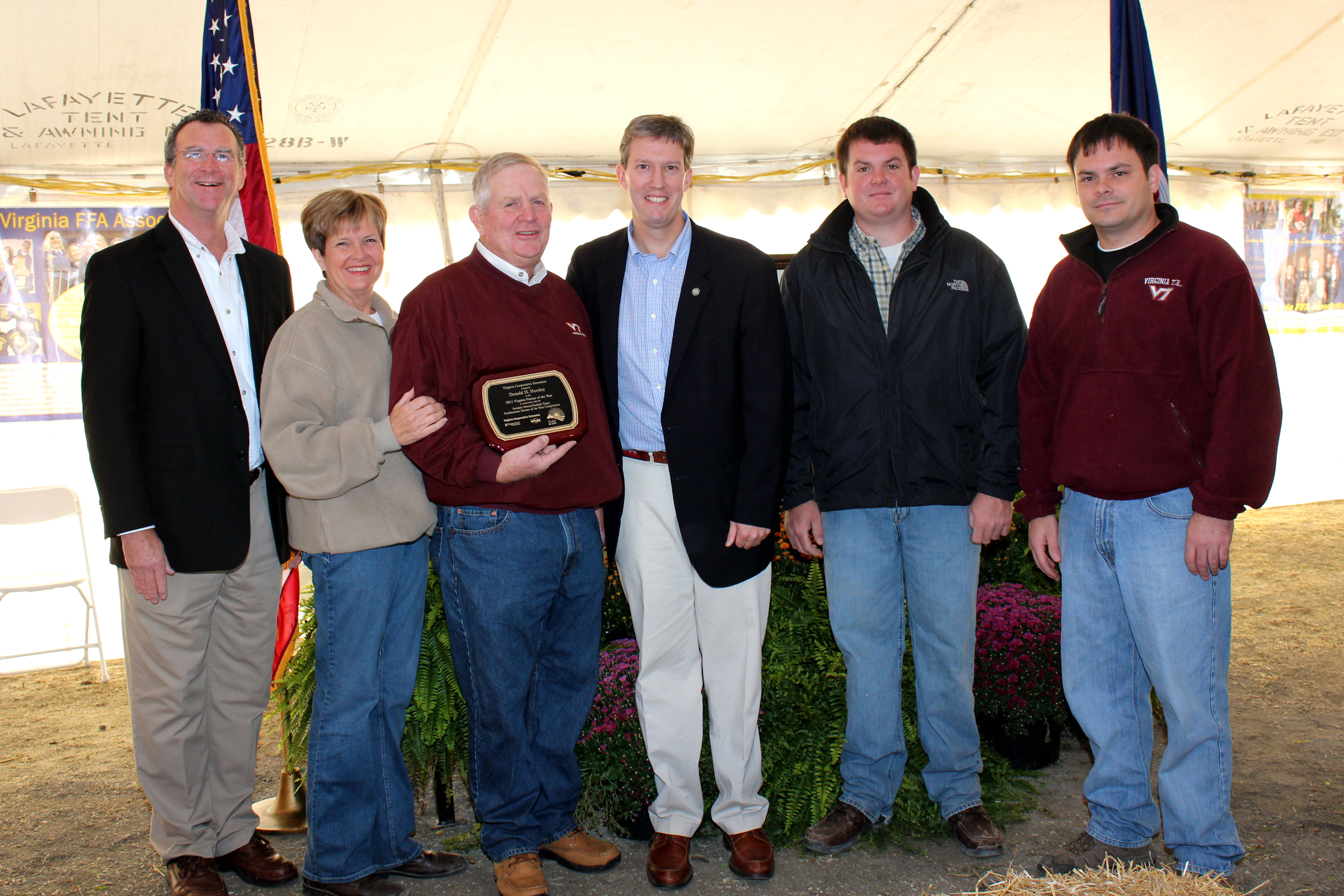 Farmer of the Year presetnation at the State Fair of Virginia
