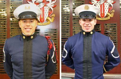 From left to right are Cadets Michael Lowery and Weston Lahr