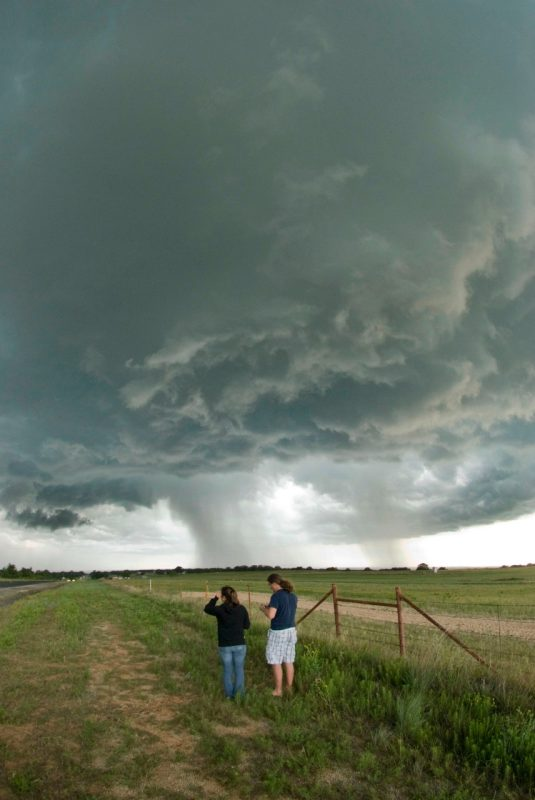 A fierce storm forms as Virginia Tech students study how weather phenomenon happen.