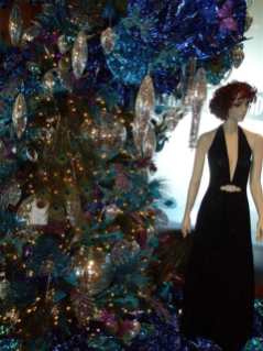Detail from a tree displayed during the 2010 Fashions for Evergreens event