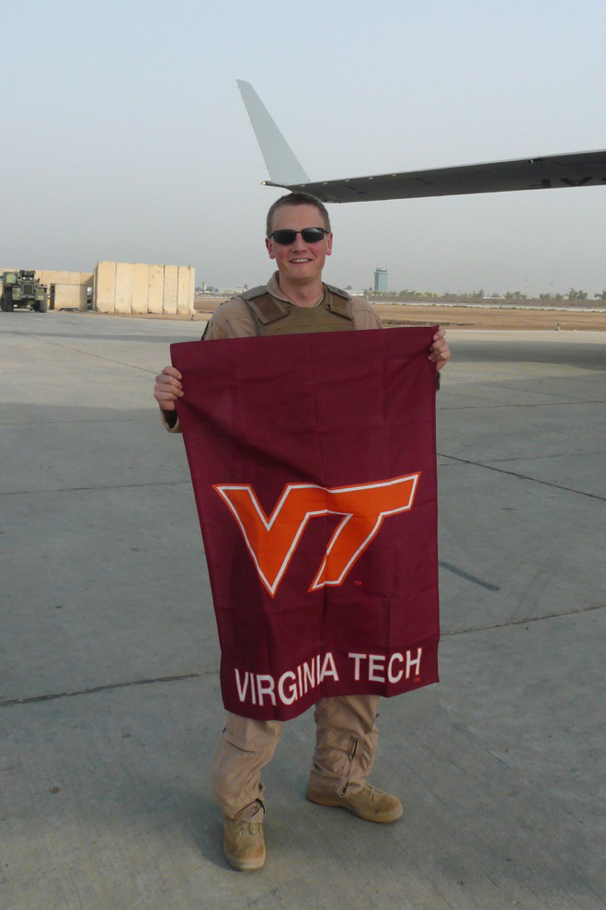 Capt. Timothy Goodwillie, U.S. Air Force, Virginia Tech Corps of Cadets Class of 2005 who is currently deployed to Southwest Asia