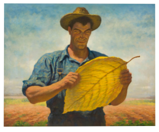 James Chapin oil painting, part of the permanent R.J. Reynolds Collection at the Homestead, was used in 1940s advertising.